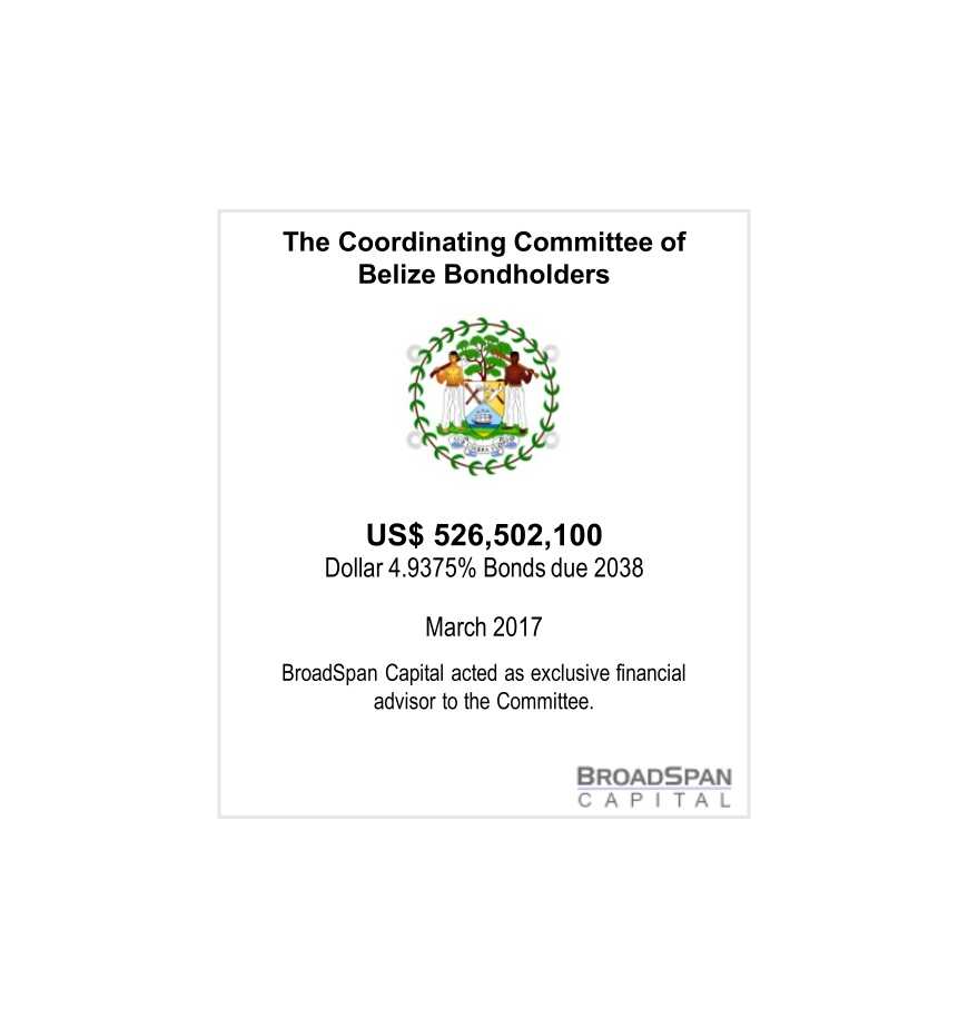 BELIZE CREDITORS COMMITTEE